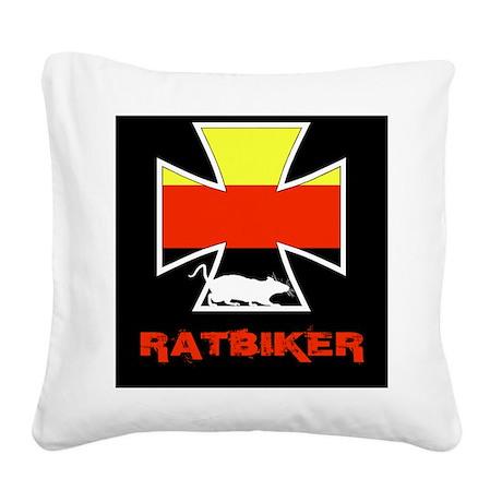 Rat biker Germany Square Canvas Pillow