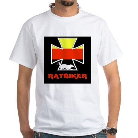 Rat biker Germany White T-Shirt