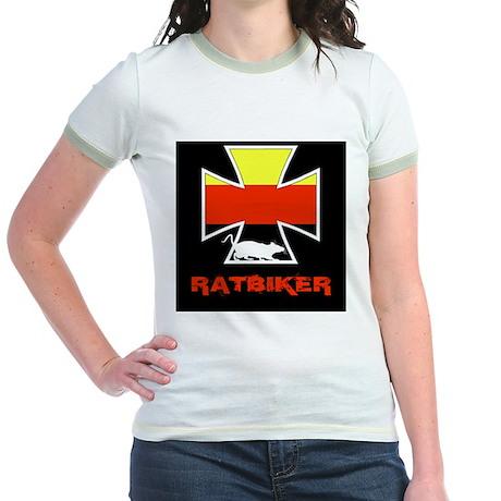 Rat biker Germany Jr. Ringer T-Shirt