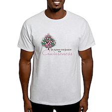 Pink Ribbon Xmas Tree T-Shirt