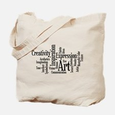 Art Word Cloud Tote Bag
