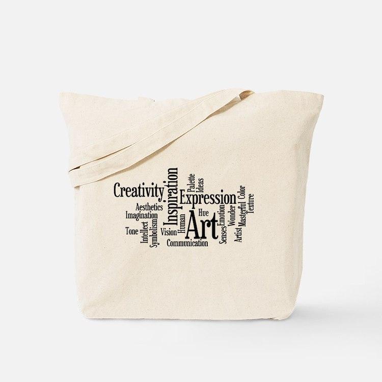 Art Word Cloud Tote Bag