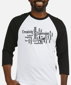 Art Word Cloud Baseball Jersey
