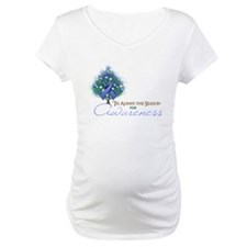Periwinkle Ribbon Xmas Tree Shirt