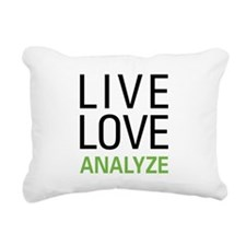 Live Love Analzye Rectangular Canvas Pillow