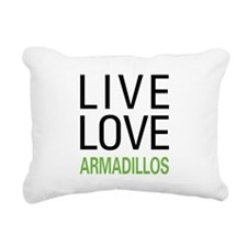 Live Love Armadillos Rectangular Canvas Pillow