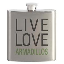 Live Love Armadillos Flask