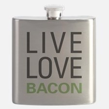 Live Love Bacon Flask