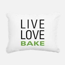 Live Love Bake Rectangular Canvas Pillow