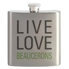 Live Love Beaucerons Flask