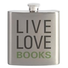 Live Love Books Flask