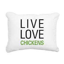Live Love Chickens Rectangular Canvas Pillow
