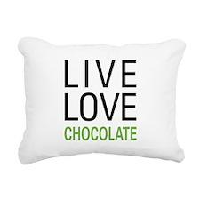 Live Love Chocolate Rectangular Canvas Pillow