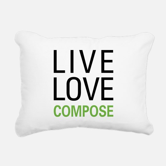 Live Love Compose Rectangular Canvas Pillow