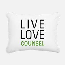 Live Love Counsel Rectangular Canvas Pillow