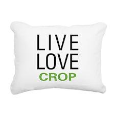 Live Love Crop Rectangular Canvas Pillow