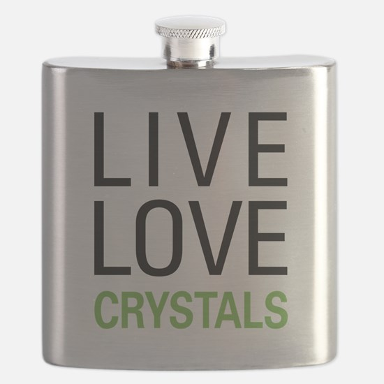 Live Love Crystals Flask