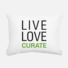 Live Love Curate Rectangular Canvas Pillow