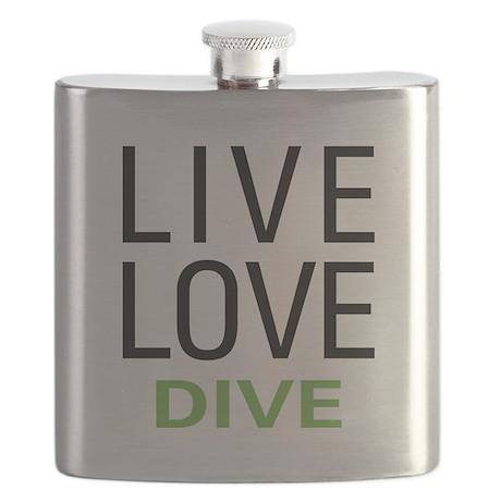 Live Love Dive Flask