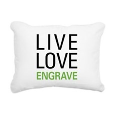Live Love Engrave Rectangular Canvas Pillow