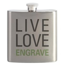 Live Love Engrave Flask