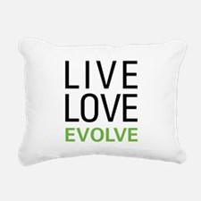 Live Love Evolve Rectangular Canvas Pillow