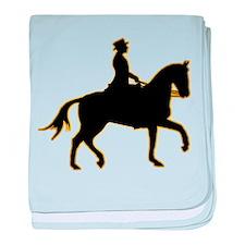 Equestrian baby blanket