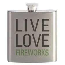 Live Love Fireworks Flask