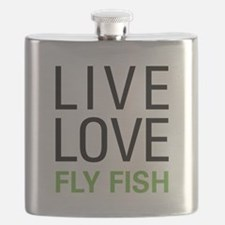 Live Love Fly Fish Flask