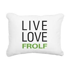 Live Love Frolf Rectangular Canvas Pillow
