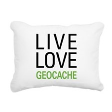 Live Love Geocache Rectangular Canvas Pillow
