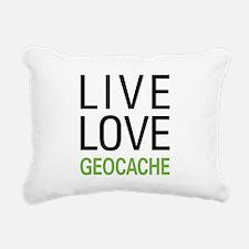 Live Love Geocache Rectangular Canvas Pillow