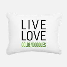 Live Love Goldendoodles Rectangular Canvas Pillow
