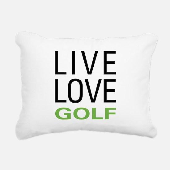 Live Love Golf Rectangular Canvas Pillow