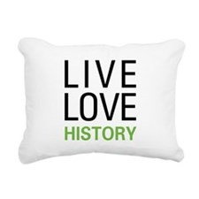 livehistory.png Rectangular Canvas Pillow
