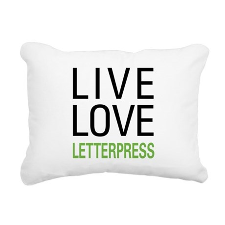 liveletter.png Rectangular Canvas Pillow