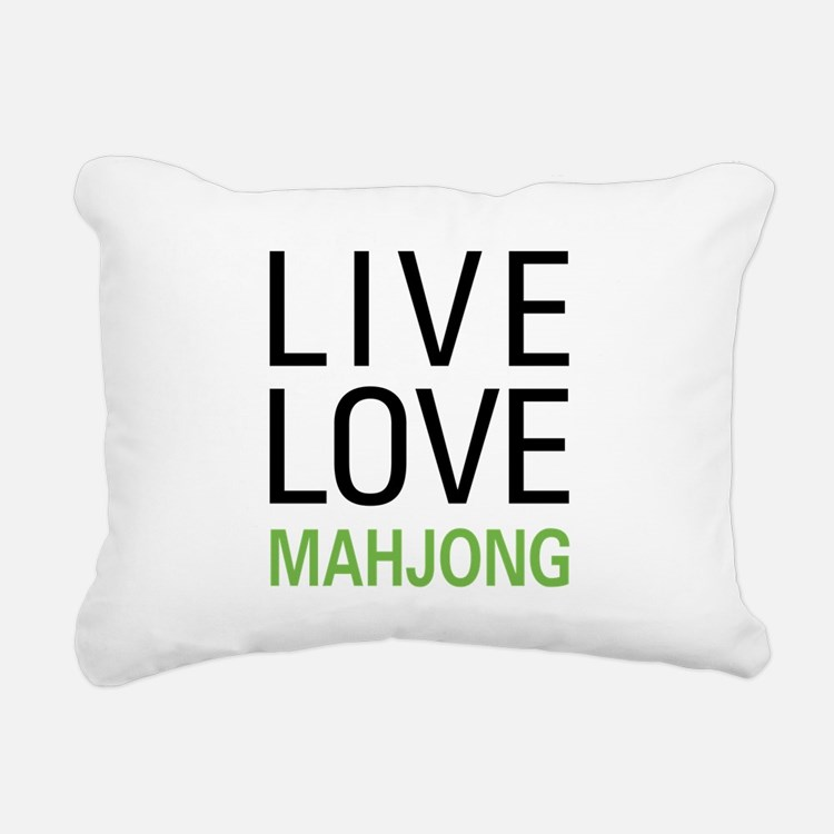 livemahjong.png Rectangular Canvas Pillow