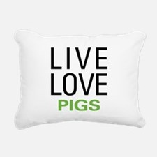 livepig.png Rectangular Canvas Pillow