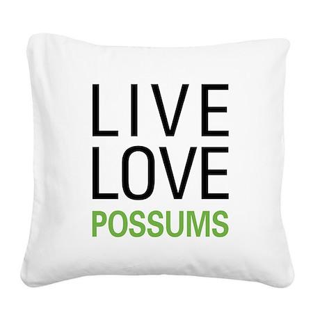livepossum.png Square Canvas Pillow