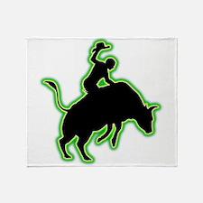 Bull Riding Throw Blanket