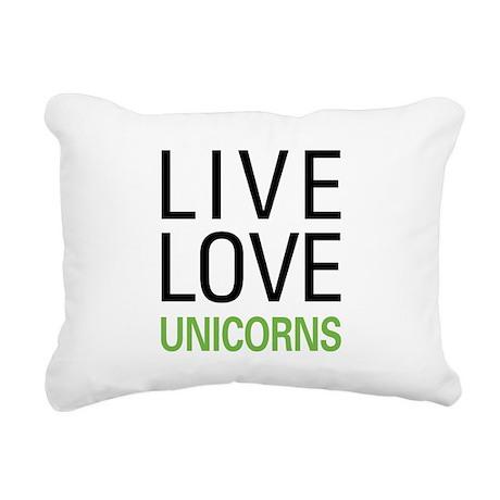liveunicorn.png Rectangular Canvas Pillow