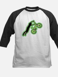 BMX Rider Kids Baseball Jersey