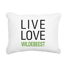 livewildebeest.png Rectangular Canvas Pillow