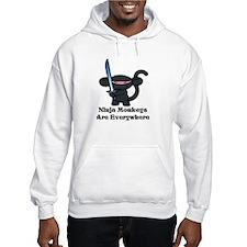 Black Minky with Shiny Sword Hoodie Sweatshirt