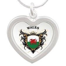 Wales Silver Heart Necklace