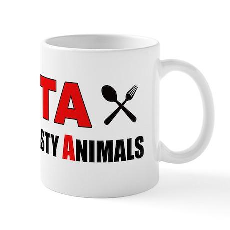 """""""PETA: People Eat Tasty Animals"""" Mug"""