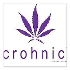 crohnic™ Logo t-shirt - Light Colors Square Car Ma