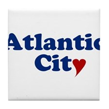 Atlantic City with Heart Tile Coaster