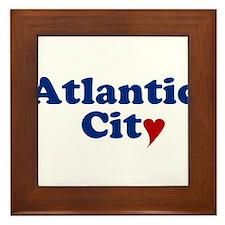 Atlantic City with Heart Framed Tile