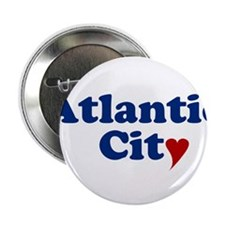 """Atlantic City with Heart 2.25"""" Button"""